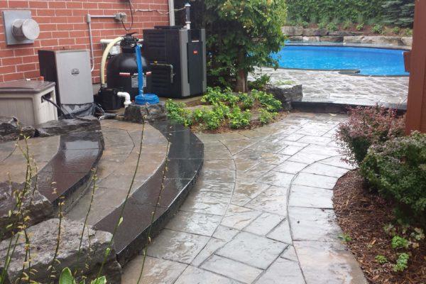 durham foxy landscaping side entrance pool